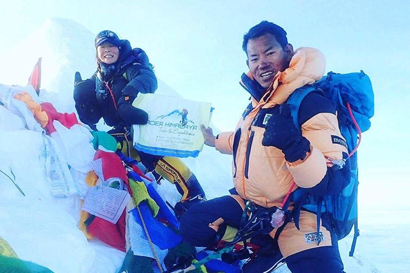 Japanese climber Kyoko Iwata, Da Dendi Sherpa