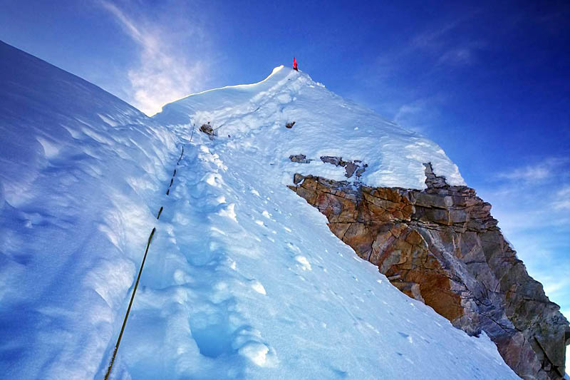 In this undated photo, climbers summit Mt Manaslu. Courtesy: Chatur Tamang