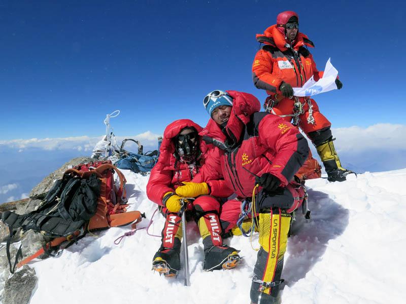 In this undated photo, mountaineers summit the Nanga Parbat. Courtesy: Mingma G Sherpa