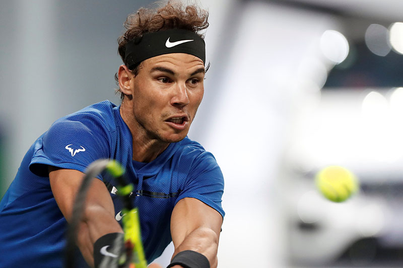 Rafael Nadal of Spain in action against Grigor Dimitrov of Bulgaria. Photo: Reuters