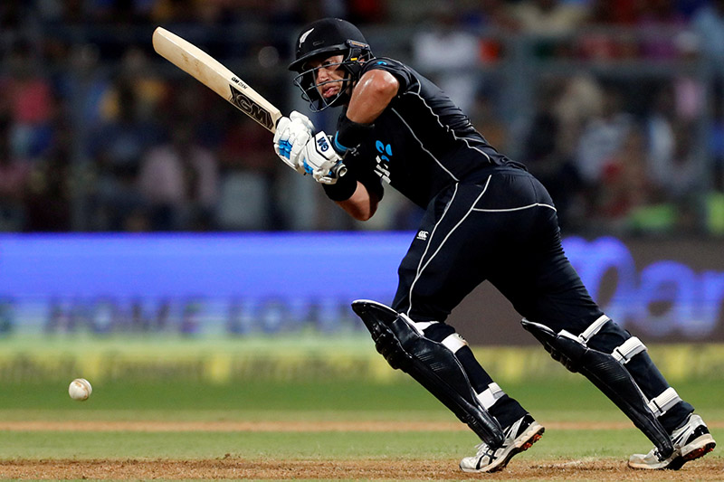 New Zealand's Ross Taylor plays a shot. Photo: Reuters