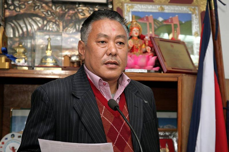 File - The Federation of Contractors' Association of Nepal Sharad Kumar Gauchan. Courtesy: Facebook