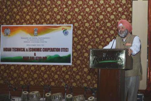 Ambassador of India to Nepal, Manjeev Singh Puri during ITEC Day and Maulana Azad Day celebrations, in Kathmandu, on Friday, November 17, 2017. Photo courtesy: Embassy of India.