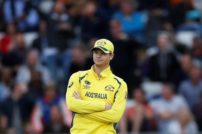 Australia's Captain Steve Smith looks dejected during the 2017 ICC Champions Trophy, Group A match between England and Australia, in Edgbaston, on June 10, 2017. Photo: Action Images via Reuters