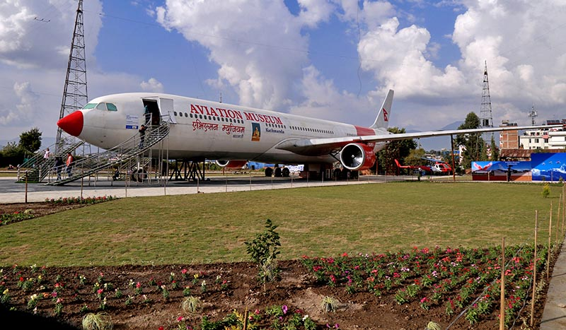 The newly constructed Aviation Museum, first in Nepal, at Sinamangal in Kathmandu, on Saturday, November 4, 2017. Photo: RSS