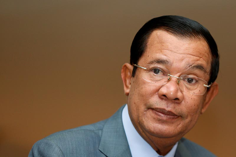 Cambodia's Prime Minister Hun Sen attends a plenary session at the National Assembly of Cambodia in central Phnom Penh, on October 16, 2017. Photo: Reuters