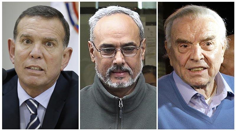 This combination of photos shows Juan Angel Napout (left), Manuel Burga (centre), and Jose Maria Marin. Photo: AP