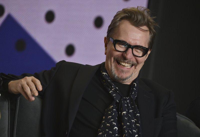 Gary Oldman attends a press conference for u201cDarkest Houru201d on day 5 of the Toronto International Film Festival at the TIFF Bell Lightbox in Toronto, on September 11, 2017. Photo: AP/ File