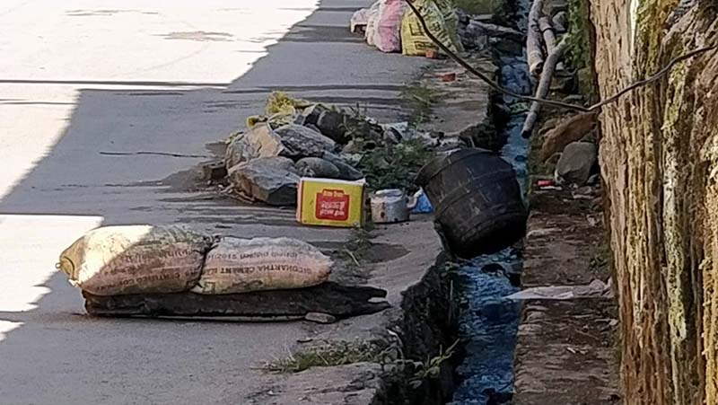 An image of the incident site where the Improvised Explosive Device (IED) was found. Photo: Ramji rana