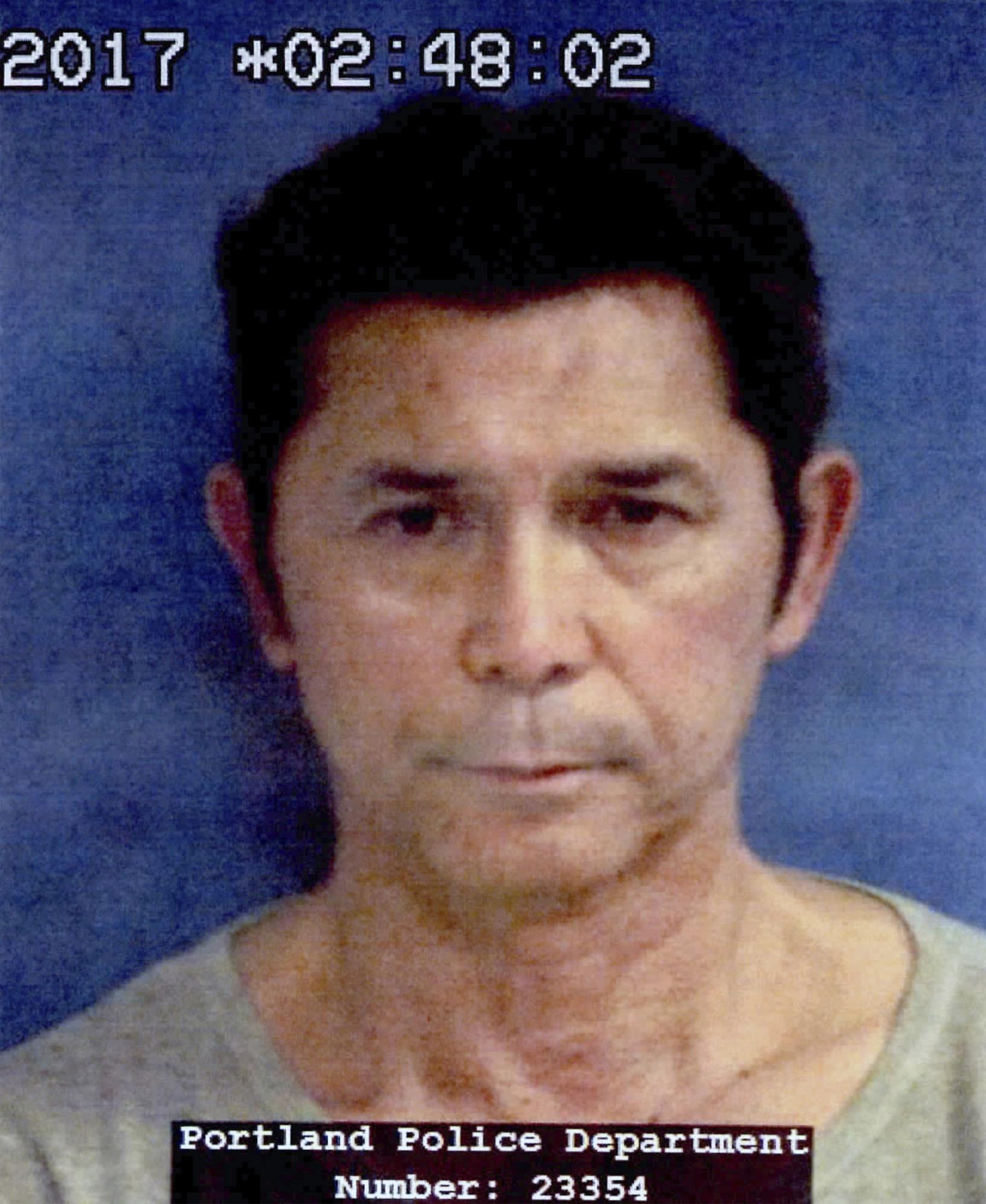 This undated photo provided by the Portland Police Department shows Lou Diamond Phillips. Photo: AP