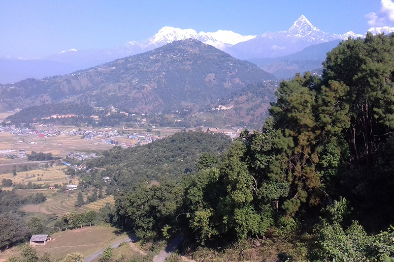 Machhapuchre Mountain range as seen from Silinge of Lekhnatha in kaski district, on Sunday, November 26, 2017. Photo: RSS