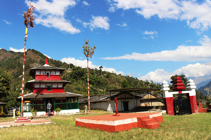Bhagwati Kot Temple, resembling traditional, touristic and Religious significance, at Raguganga Rural Municipality-2 in Myagdi district, on Friday, November 10, 2017. Photo: RSS
