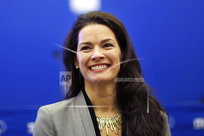 FILE - In this Feb. 21, 2014 file photo, former Olympic figure skater Nancy Kerrigan after a screening of a new documentary about the 1994 attack on Kerrigan which will aired the day of the 2014 Winter Olympics closing ceremony in Sochi, Russia. Photo: AP