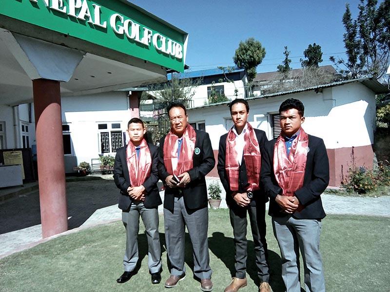 Nepali golf team