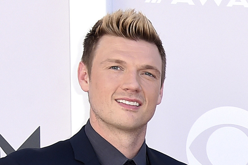 FILE - In this April 2, 2017 photo, Nick Carter of the Backstreet Boys arrive at the 52nd annual Academy of Country Music Awards in Las Vegas. Photo: AP
