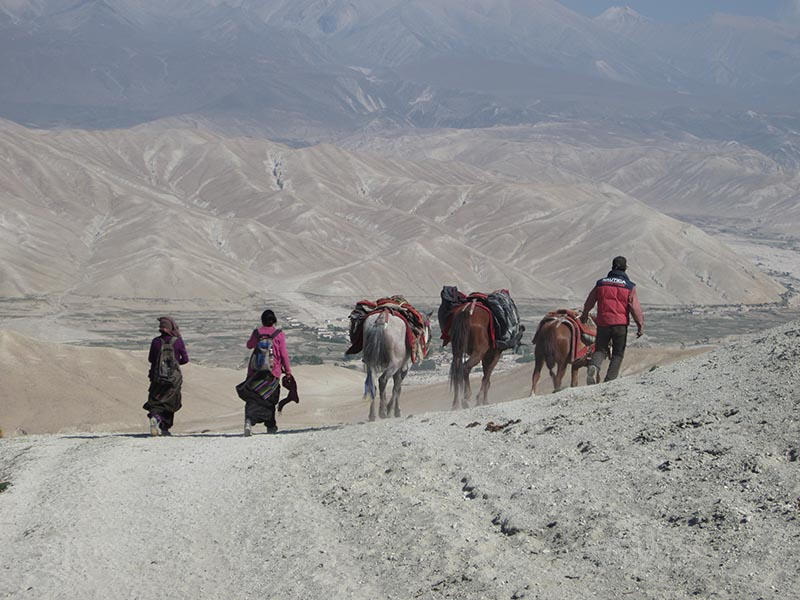Prehistoric Himalayan settlements are remote and only accessible today only by horse and on foot. nPhoto courtesy: Christina Warinner