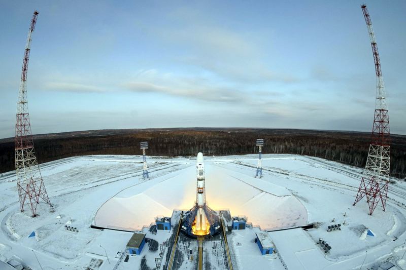 The Souyz-2 spacecraft with Meteor-M satellite and 18 additional small satellites launches from Russia's new Vostochny cosmodrome, near the town of Tsiolkovsky in Amur region, Russia November 28, 2017. Photo: Reuters
