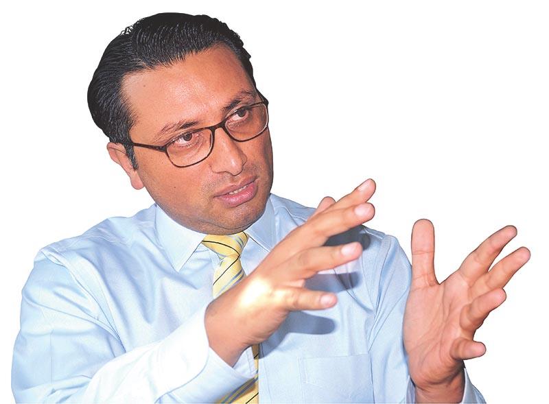 Interview with Swarnim Wagle, vice chairman of National Planning Commission, in Kathmandu, on Sunday, 2017. Photo: Balkrishna Thapa Chhetri/THT