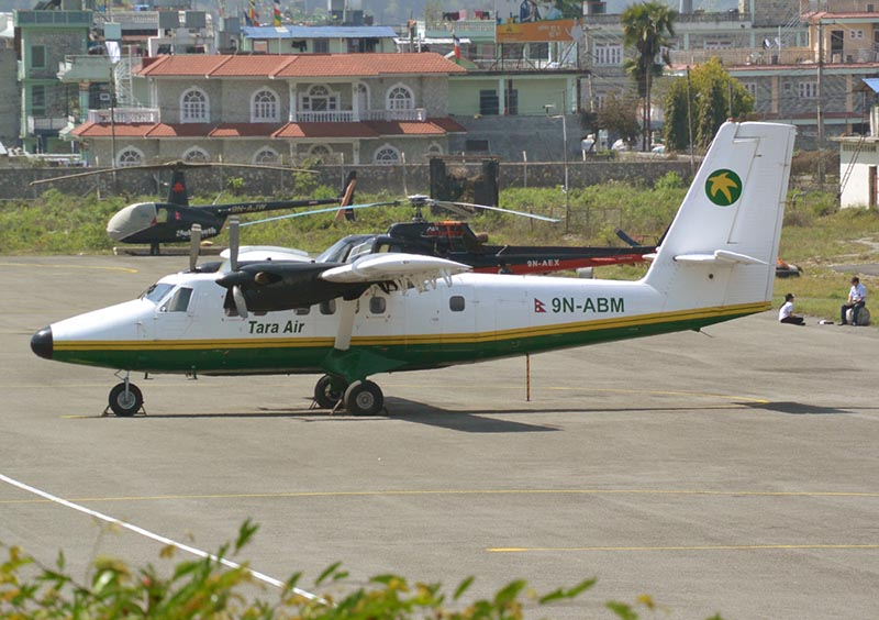 File - This undated image shows the Tara Air's Twin Otter 9N-ABM aircraft in Pokhara Airport. Photo courtesy: al-airliners.be