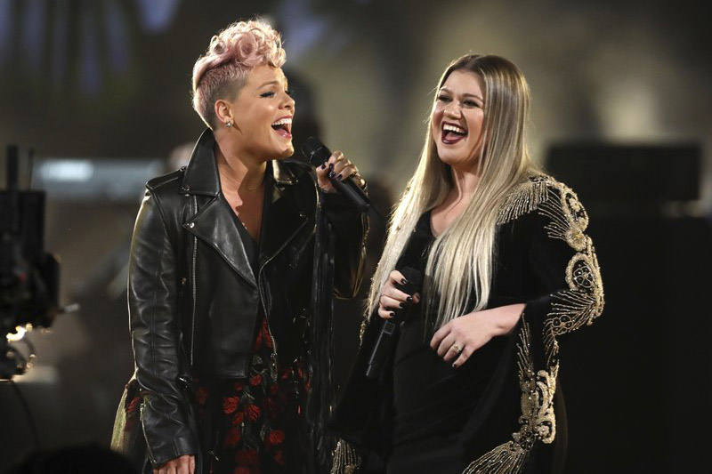 Musicians at the 2017 American Music Awards. Photo: AP