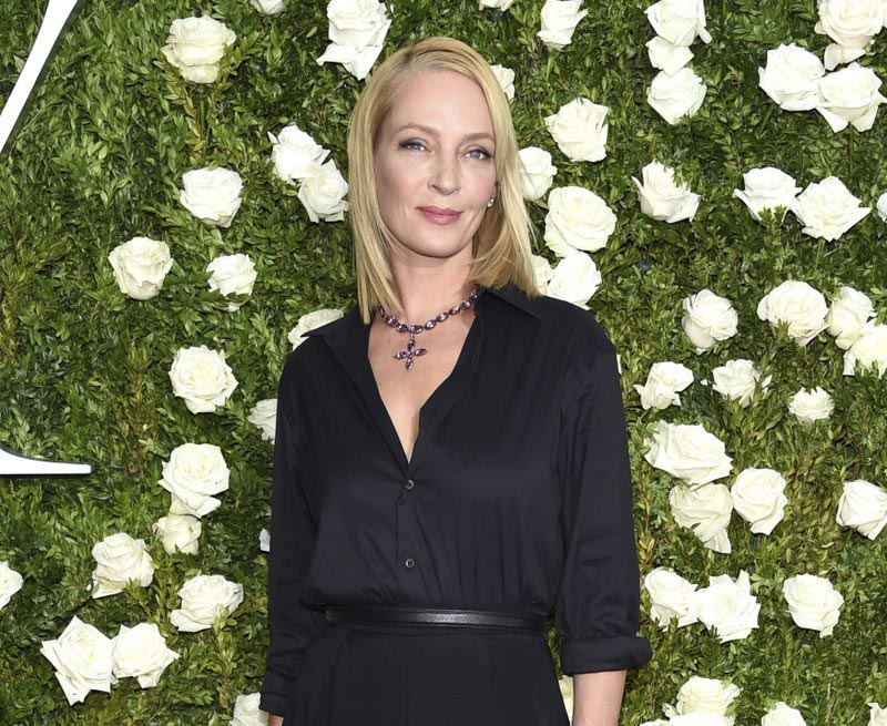 Uma Thurman arrives at the 71st annual Tony Awards in New York, on June 11, 2017. Photo: AP/ File
