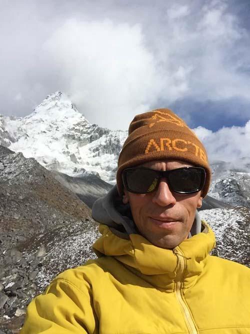 Vallery Rozov on Mt Ama Dablam base camp. Courtesy: Facebook