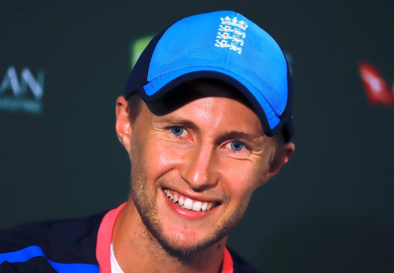 England captain Joe Root reacts as he answers questions during a media conference ahead of the third Ashes cricket test match between Australia and England, at WACA Ground, in Perth, Australi, on December 13, 2017. Photo: Reuters