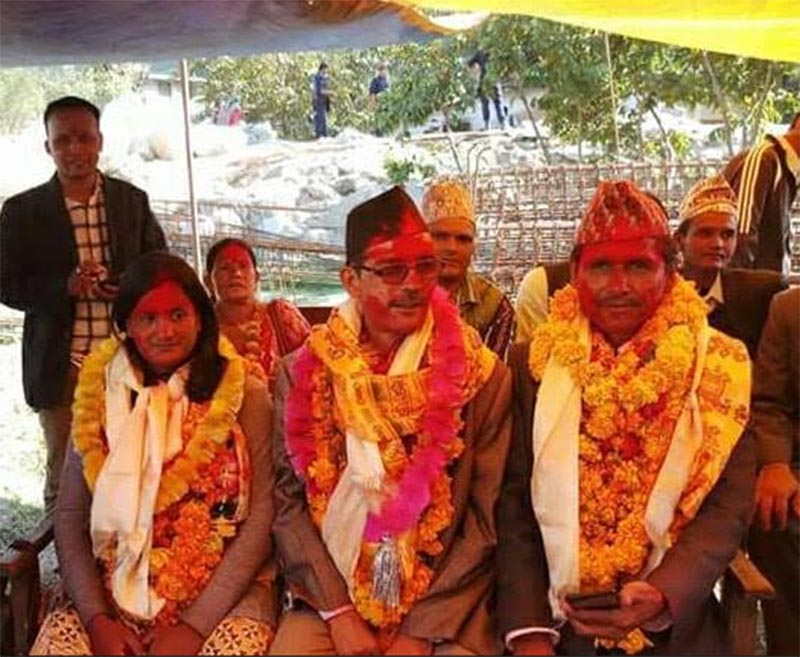 Bajhang Poll winners. Photo: Tekendra Deuba