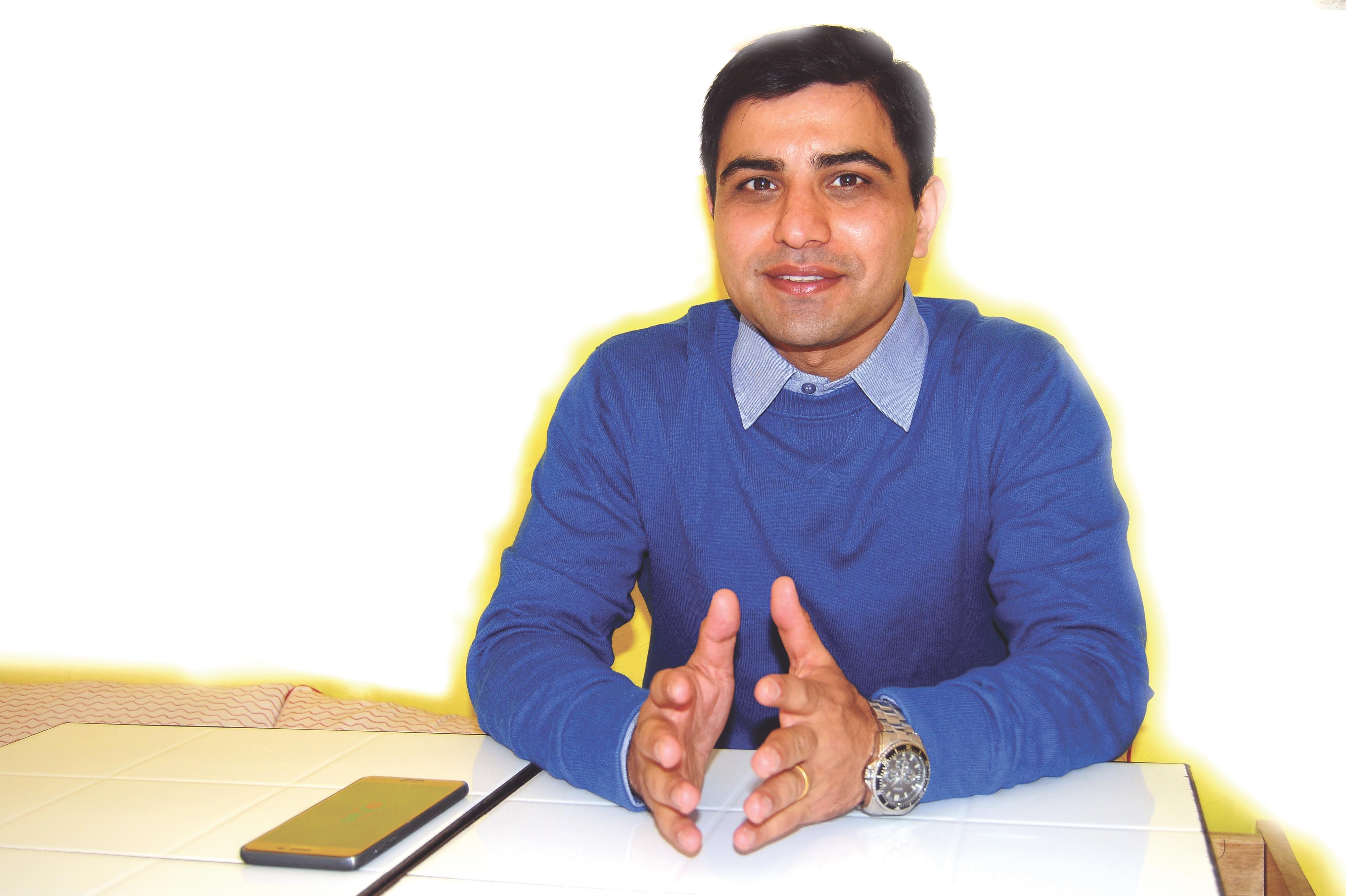Interview with Chandan Sapkota, a young economist, on the prospects and challenges of federal Nepal, in Kathmandu, on Sunday, December 11, 2017. Photo: Balkrishna Thapa Chhetri/THT