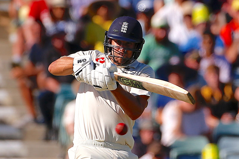 England's Dawid Malan hits a boundary during the first day of the third Ashes cricket test match. Photo: Reuters