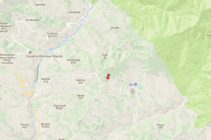 Dolakha earthquake. Map: NSC
