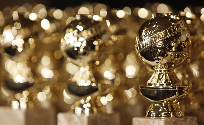 Golden Globe statuettes are displayed during a news conference in Beverly Hills, California, on January 6, 2009. Photo: AP/ File