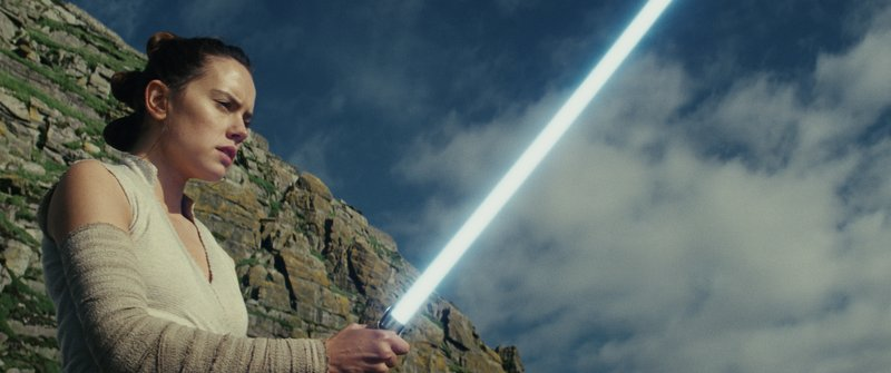 This image released by Lucasfilm shows Daisy Ridley as Rey in u201cStar Wars: The Last Jedi.u201d u201cStar Wars: The Last Jediu201d is off to a death star-sized start at the box office. Disney says Friday, on December 15, 2017. Photo: AP