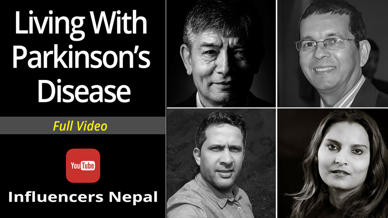 The cover photo of the documentary 'Living With Parkinson's Disease'. Photo Courtesy: Influencers Nepal