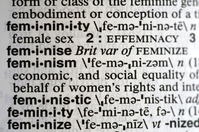 This Monday, December 11, 2017, photo taken in New York shows the word feminism listed in the dictionary. Merriam-Webster has revealed u201cfeminismu201d as its word of the year for 2017 on Tuesday, December 12. Photo: AP