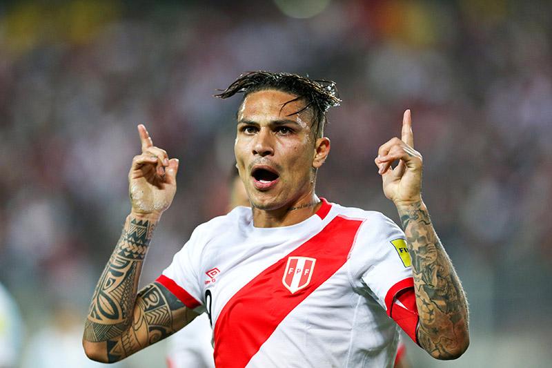 Peru's Paolo Guerrero celebrates after scoring. Photo: Reuters
