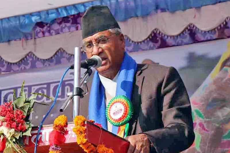 File: PM Sher Bahadur Deuba Photo:RSS