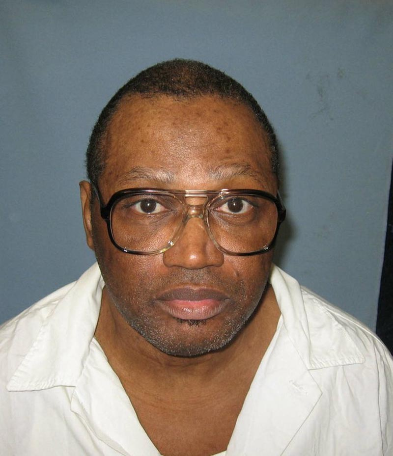 This undated file photo provided by the Alabama Department of Corrections shows a police mug shot of Vernon Madison, who is scheduled to be executed for the 1985 murder of Mobile police officer Julius Schulte on Thursday. Alabama is asking the U.S. Supreme Court to let it proceed with this weeku2019s scheduled execution of the 67-year-old inmate whose lawyers say can no longer remember his crime. The Alabama attorney generalu2019s office told justices in a filing Monday that the stateu2019s high court last year ruled the execution could proceed and should do so again.