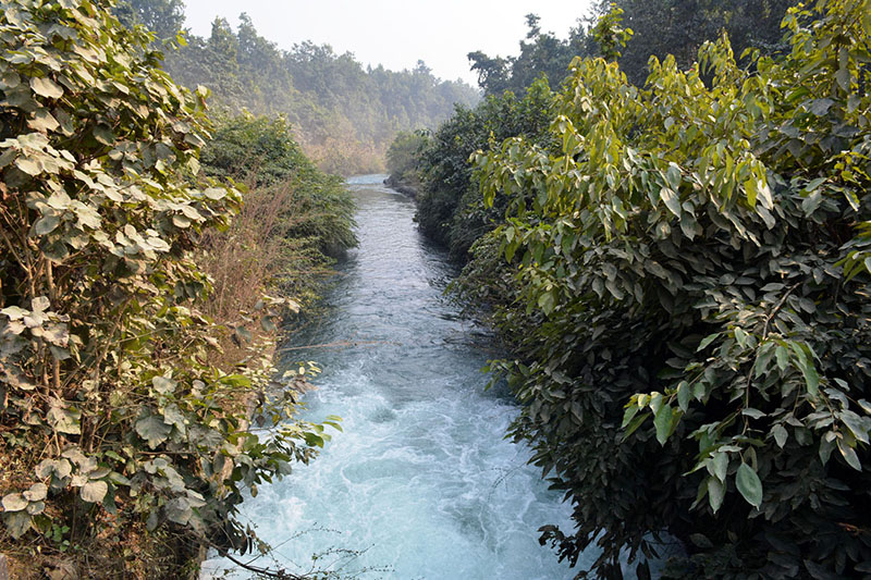 A canal diverted from Mahakali river for irrigation purpose in Kanchan district, on Monday, January 01, 2018. Photo: RSS