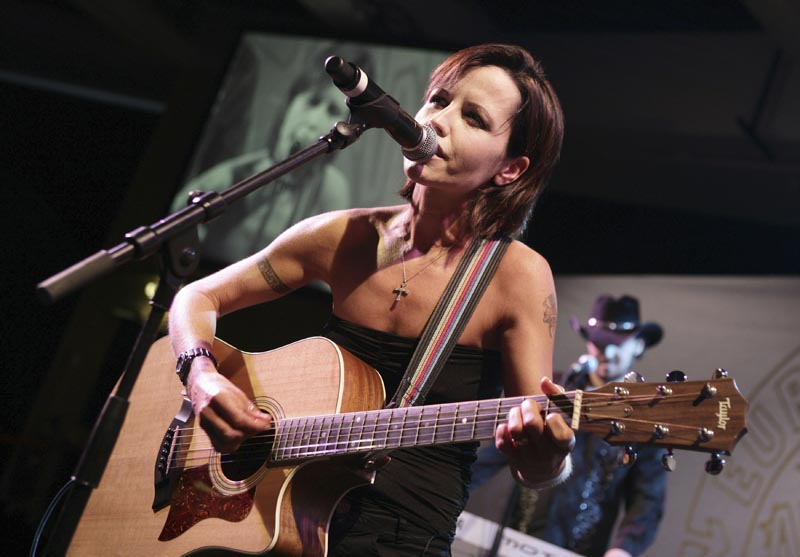 File - Cranberries lead singer Dolores O'Riordan performs during the European Border Breakers awards, or EBBA awards, in Cannes, Southern France, on Sunday, Jan. 27, 2008. Photo: AP