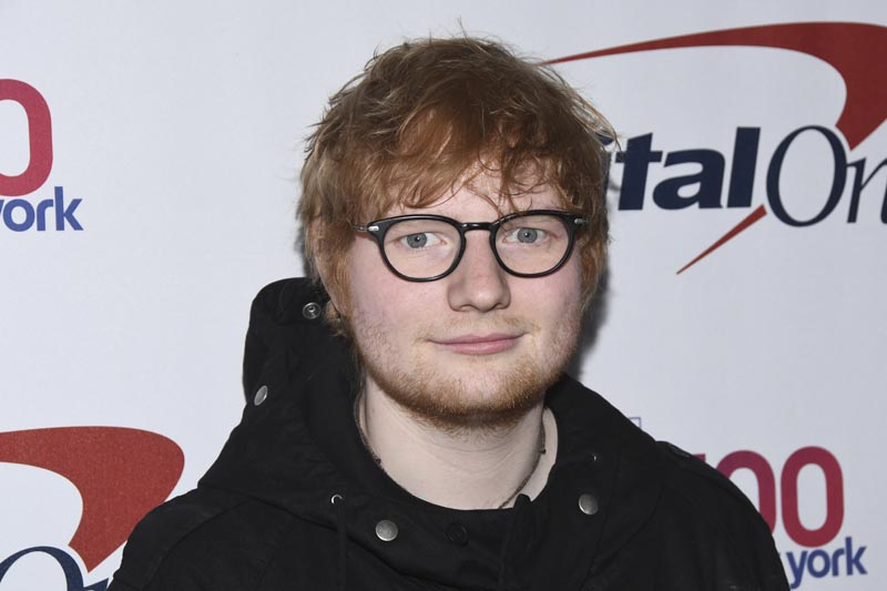 File - Ed Sheeran attends Z100's iHeartRadio Jingle Ball at Madison Square Garden in New York on Dec. 8, 2017.  Photo: AP