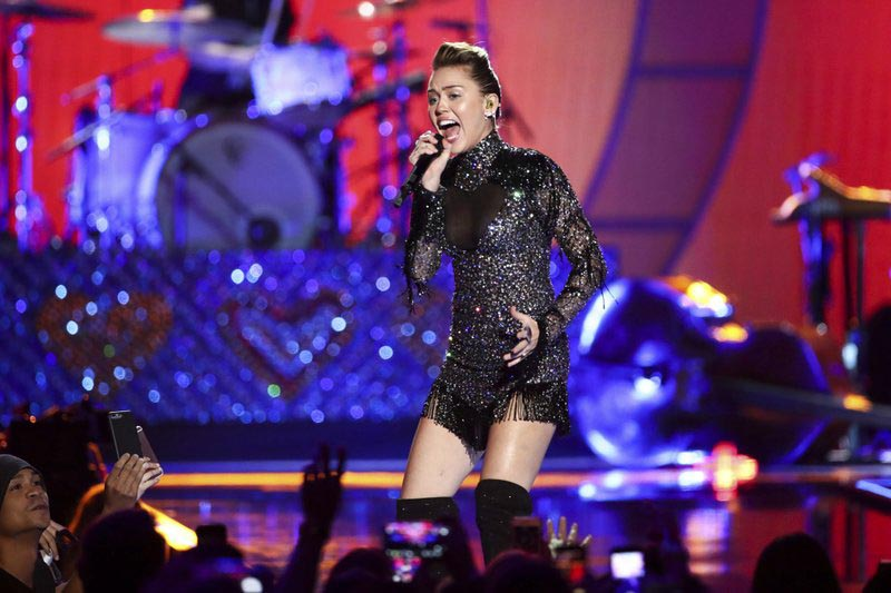 File - Miley Cyrus performs at the 2017 iHeartRadio Music Festival Day 2 held at T-Mobile Arena, in Las Vegas, on Sept. 23, 2017. Photo: AP