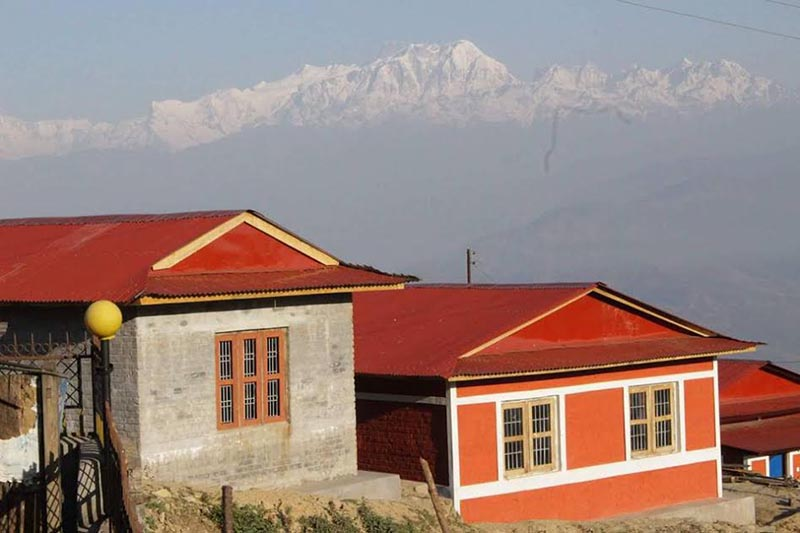 A view of homestays established in Rainaskot, Lamjung, on Tuesday, January 9, 2018. Photo: THT