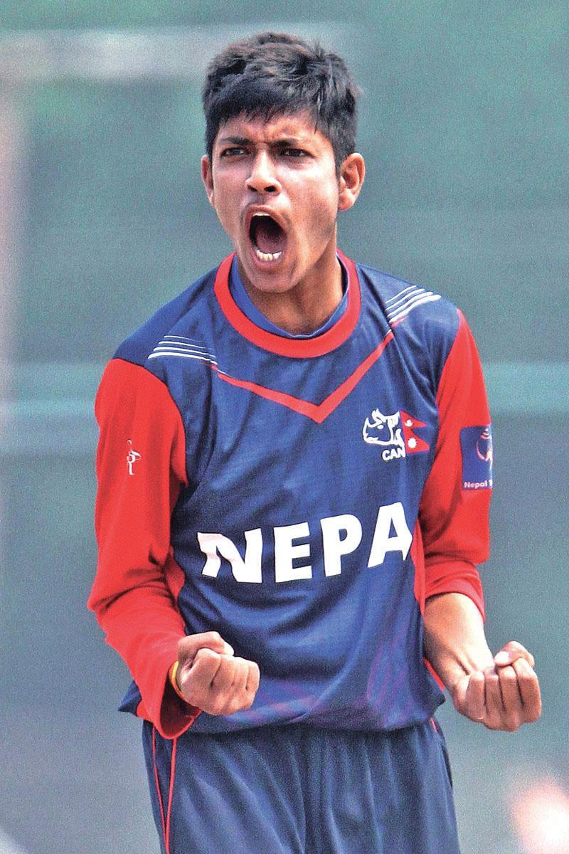 Sandeep Lamichhane. Photo: Udipt Singh Chhetry/THT