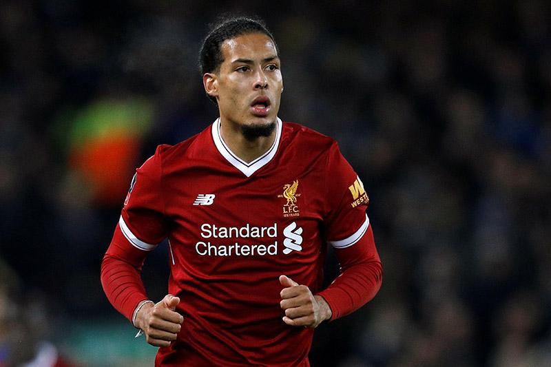 Liverpoolu2019s Virgil van Dijk during the match. Photo: Reuters
