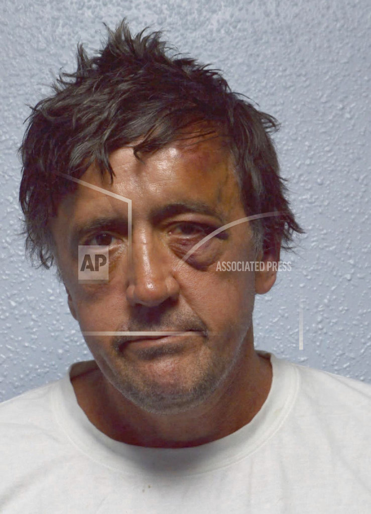 FILE - In this undated image provided by London's Metropolitan Police, showing Darren Osborne, 48, following his arrest after a vehicle struck pedestrians near a mosque in north London.  A Crown Court on Thursday Feb. 1, 2018, found Darren Osborne guilty of murder and attempted murder in the June 2017 attack in the city's Finsbury Park neighborhood. (Metropolitan Police via AP)