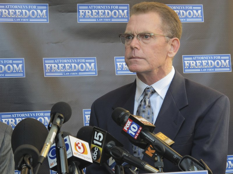 Douglas Haig takes questions from reporters at a news conference Friday, Feb. 2, 2018, in Chandler, Ariz. Haig spoke about his experience selling ammunition to the gunman who killed 58 people and injured hundreds more in the Oct. 1, 2017, in Las Vegas shooting, the deadliest in modern U.S. history. Haig, a 55-year-old aerospace engineer who sold ammunition as a hobby for about 25 years, said he met Stephen Paddock at a Phoenix gun show in the weeks before the Oct. 1 shooting in Las Vegas that killed 58 people and injured hundreds more. Haig said he was shocked and sickened when a federal agent informed him of the massacre 11 hours after it unfolded. Itu2019s unknown whether the ammunition he sold to Paddock was used in the attack