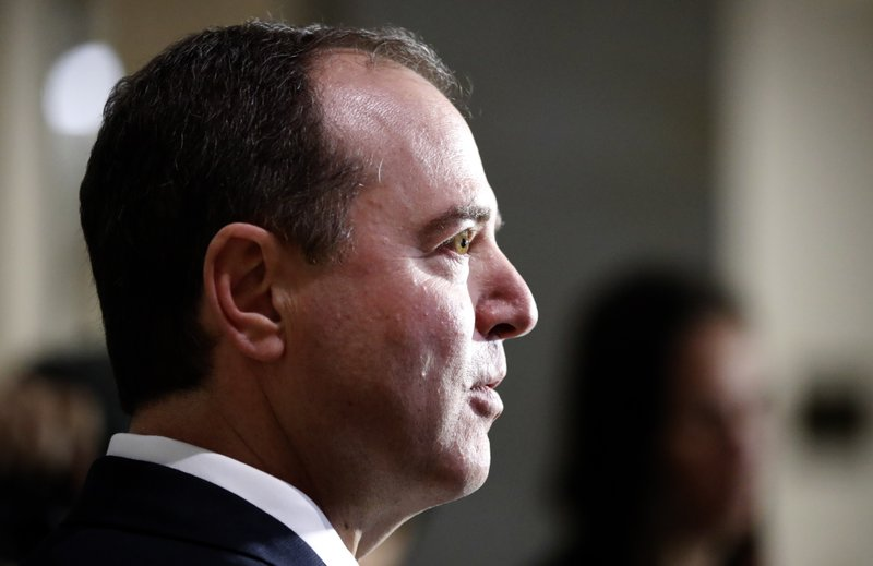 Rep Adam Schiff, D-California, ranking member of the House Committee on Intelligence, speaks during a media availability after a closed-door meeting of the House Intelligence Committee on Capitol Hill, Monday, February 5, 2018. Photo: AP
