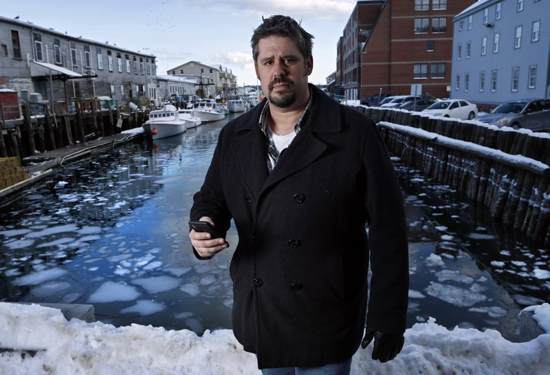 In this Thursday, Feb. 8, 2018 photo Jeremy DaRos, who received an erroneous tsunami alert on his phone, poses on the waterfront in Portland, Maine. u201cPeople need to trust the alerts theyu2019re pushing out,u201d he said. u201cThis is important stuff, and to have two incidents in the span of a month is just unacceptable.u201d
