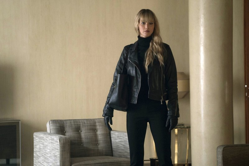 This image was released by Twentieth Century Fox, Jennifer Lawrence appears in a scene from u201cRed Sparrow.u201d Photo: AP